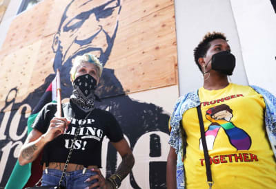 Протест Black Lives Matter в Лос-Анджелесе